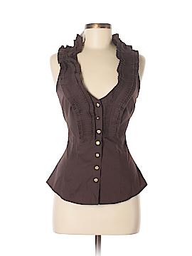 Arden B. Sleeveless Button-Down Shirt Size M