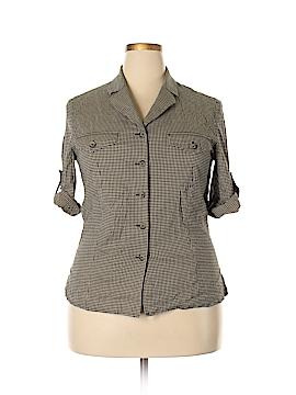 Kasper & Company ASL Long Sleeve Button-Down Shirt Size 14