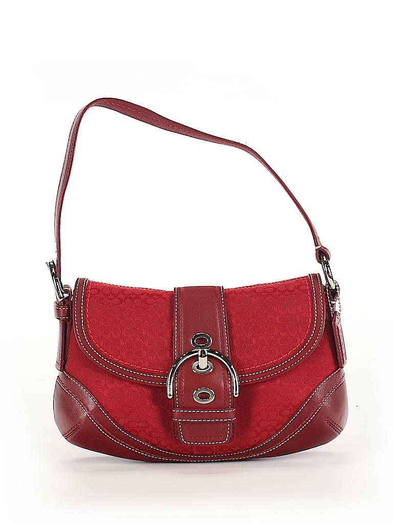 e45003350f03 Coach Solid Burgundy Shoulder Bag One Size - 69% off