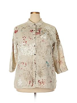 Chico's Design 3/4 Sleeve Button-Down Shirt Size XL (3)