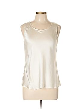 Valerie Stevens Sleeveless Silk Top Size L