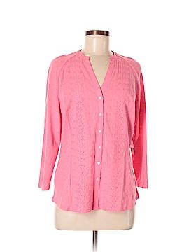 Bit & Bridle 3/4 Sleeve Button-Down Shirt Size M