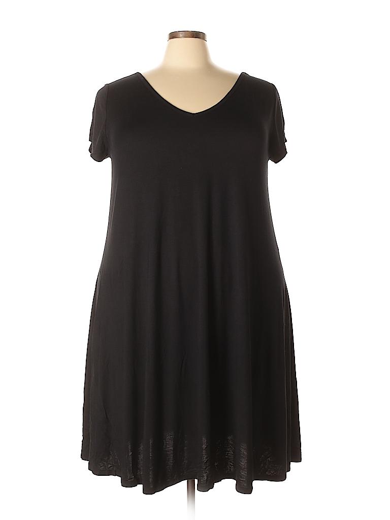 294a88d8b6e05 Lane Bryant Solid Black Casual Dress Size 18 - 20 Plus (Plus) - 50 ...