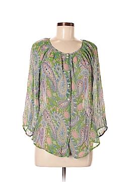 Sundance 3/4 Sleeve Silk Top Size M