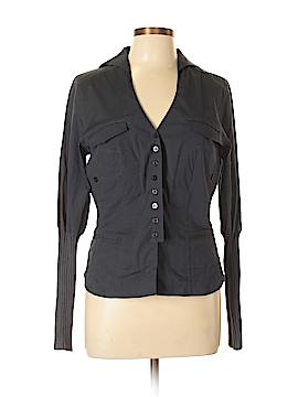 PZI Jeans Long Sleeve Button-Down Shirt Size L