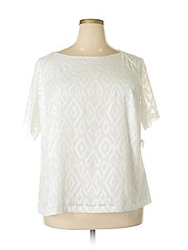 Kasper Short Sleeve Blouse Size 2X (Plus)
