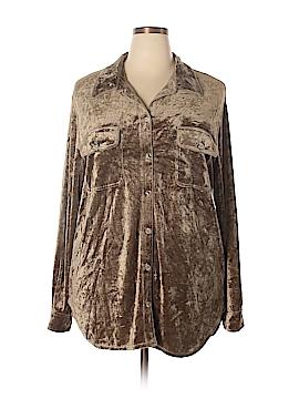 Carole Little Long Sleeve Button-Down Shirt Size 2X (Plus)