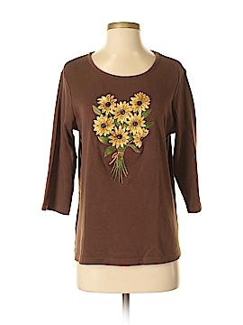 Quacker Factory 3/4 Sleeve T-Shirt Size M