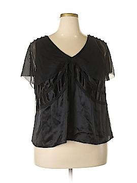 Marina Rinaldi Short Sleeve Silk Top Size 18 (27) (Plus)