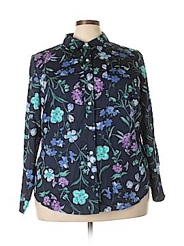 Karen Scott Long Sleeve Button-Down Shirt Size 2X (Plus)