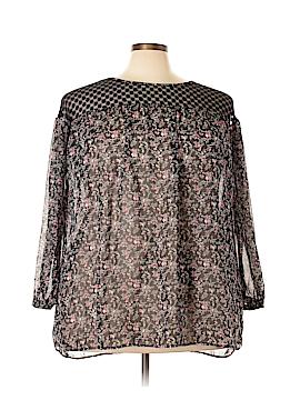Suzanne Betro 3/4 Sleeve Blouse Size 1X (Plus)