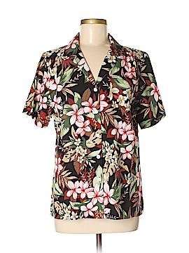 Cathy Daniels Short Sleeve Button-Down Shirt Size M