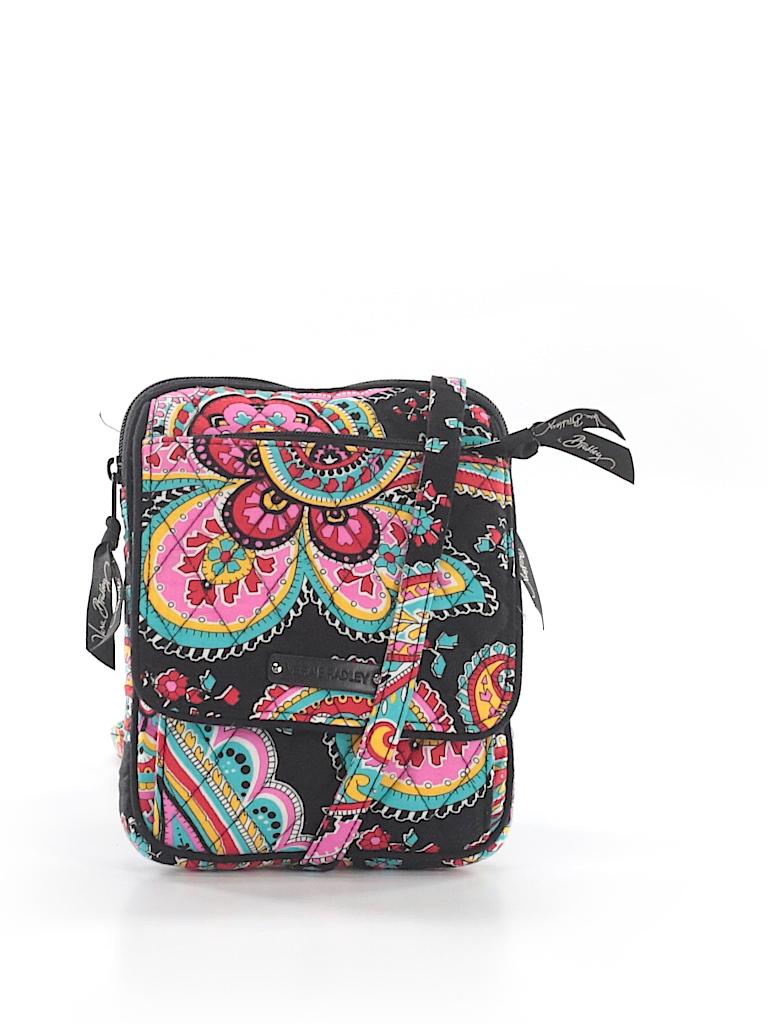 e885e6426c3c Vera Bradley 100% Cotton Color Block Black Crossbody Bag One Size ...