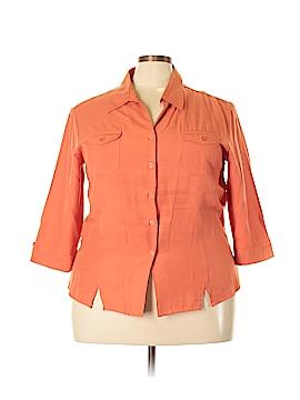 Joanna Long Sleeve Button-Down Shirt Size 2X (Plus)