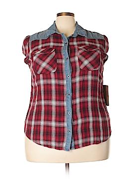Ruff Hewn Short Sleeve Button-Down Shirt Size 1X (Plus)