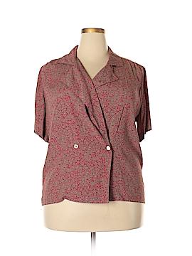 Jones New York Short Sleeve Blouse Size 14