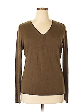 Pamela Dennis Silk Pullover Sweater Size XL