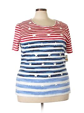Karen Scott Short Sleeve T-Shirt Size 3X (Plus)