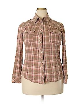 Next Long Sleeve Button-Down Shirt Size 18 (Plus)