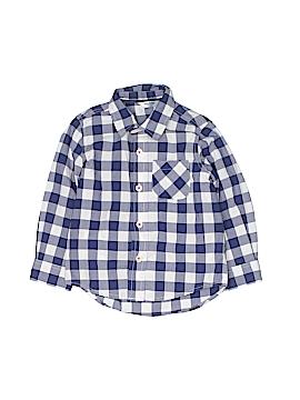Baby Boden Long Sleeve Button-Down Shirt Size 18-24 mo
