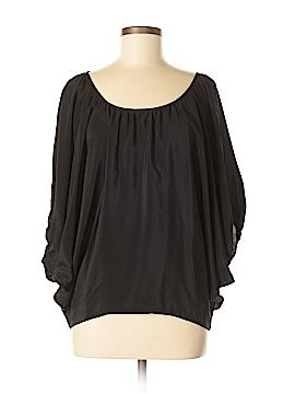 Chelsea Flower Short Sleeve Silk Top Size S