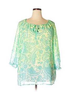 DressBarn 3/4 Sleeve Blouse Size 3X (Plus)