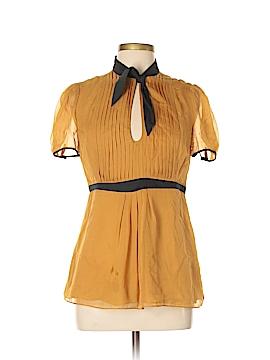 Catherine Malandrino Short Sleeve Silk Top Size 10