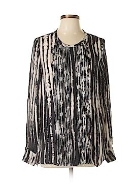 Haute Hippie Long Sleeve Silk Top Size L