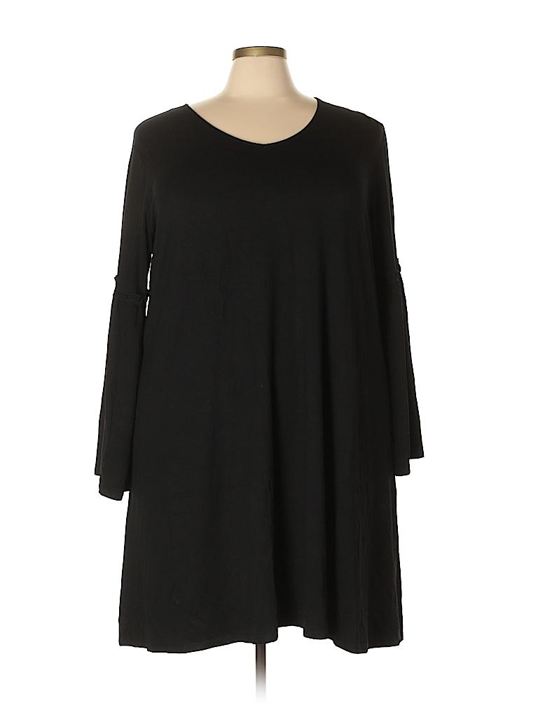 Boutique + Women Casual Dress Size 2X (Plus)