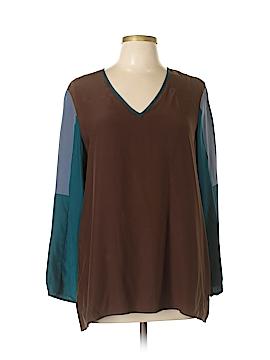 Drew Long Sleeve Silk Top Size L