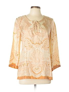 Robert Graham Long Sleeve Silk Top Size M