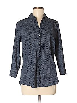 Eddie Bauer 3/4 Sleeve Button-Down Shirt Size M