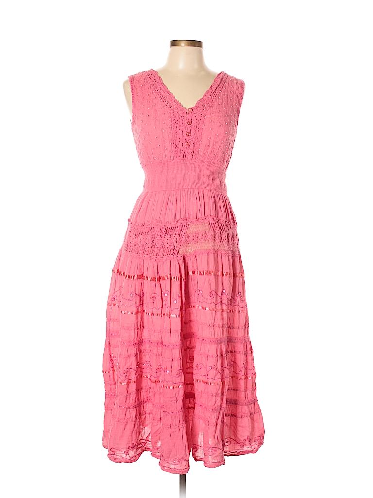 Signature 100% Cotton Lace Pink Cocktail Dress Size L - 60% off ...