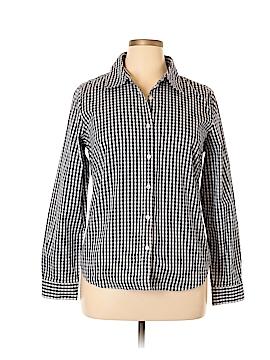 British Khaki Long Sleeve Button-Down Shirt Size XL