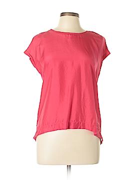 Adrianna Papell Short Sleeve Silk Top Size M