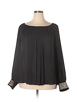 Alfani Long Sleeve Blouse Size 24 (Plus)