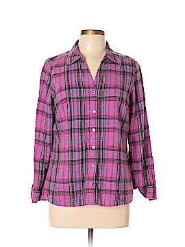 St. John's Bay Long Sleeve Button-Down Shirt Size L