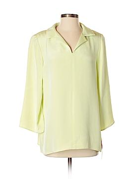 Nina Mclemore 3/4 Sleeve Silk Top Size 8