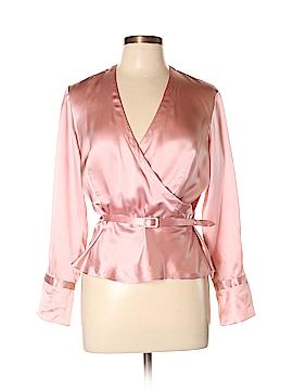 Anne Klein Long Sleeve Silk Top Size 10 (Petite)