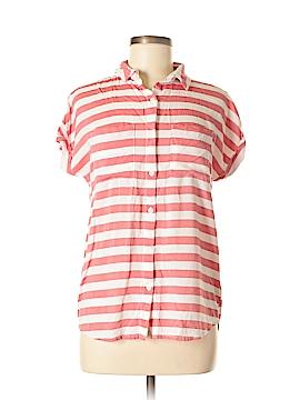 Beach Lunch Lounge Short Sleeve Button-Down Shirt Size S
