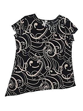 Susan Lawrence Short Sleeve Top Size 1X (Plus)