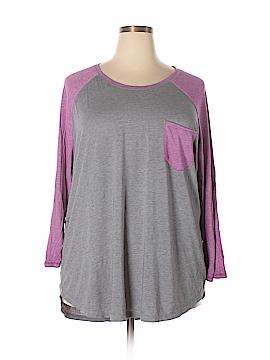 Danskin Long Sleeve T-Shirt Size 3X (Plus)