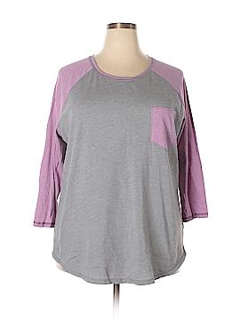 Danskin 3/4 Sleeve T-Shirt Size 4X (Plus)