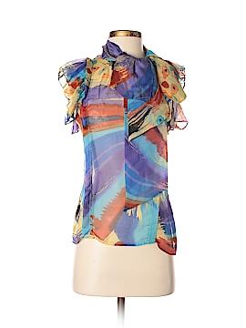 Ark & Co. Short Sleeve Silk Top Size S