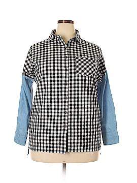 Love Long Sleeve Button-Down Shirt Size M