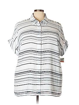 Alfani Short Sleeve Blouse Size 24 (Plus)
