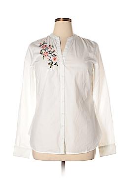 Long Tall Sally Long Sleeve Button-Down Shirt Size 10