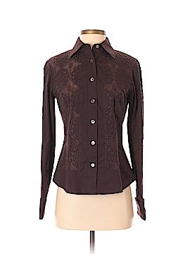 Etcetera Long Sleeve Button-Down Shirt Size 2