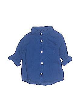 Zara Short Sleeve Button-Down Shirt Size 12-18 mo