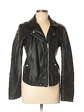 CALVIN KLEIN JEANS Leather Jacket Size L